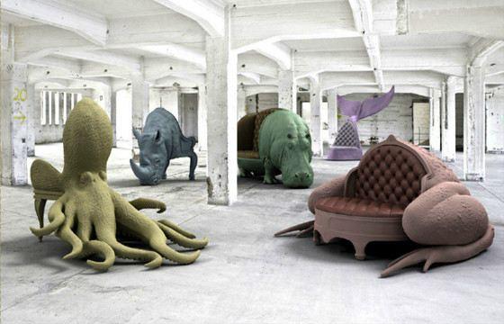 Дизайнерская мебель удивляет формами, цветом и размерами