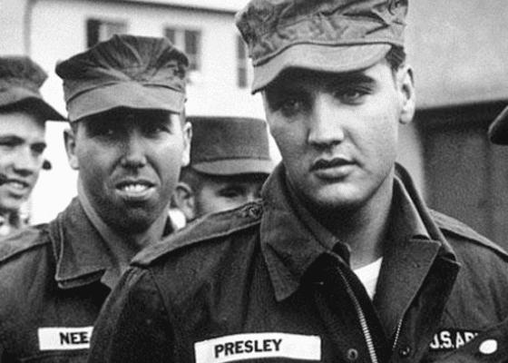 Элвис Пресли в армии, 1964.
