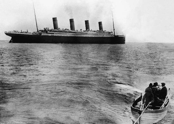 Последняя фотография Титаника на плаву, 1912.