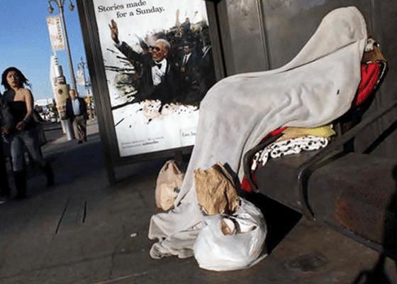 Лос-Анджелес, США - 58 000 бездомных (уступает только Нью-Йорку).