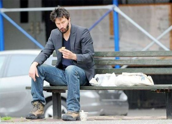 "Picture that started the ""Sad Keanu"" meme"
