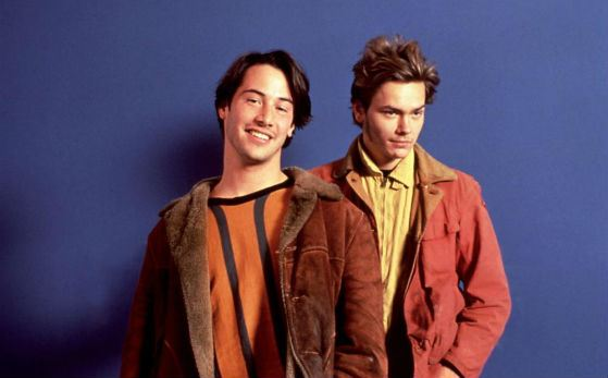 """My Own Private Idaho"": Keanu Reeves and River Phoenix"