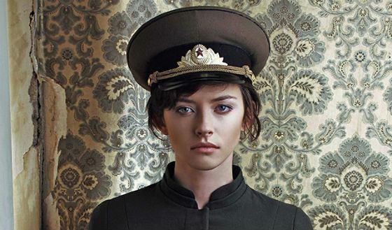 Tinatin Dalakishvili in the lookbook of the designer Ria Keburia