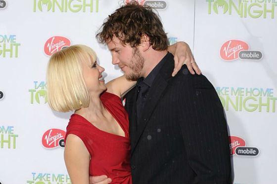 In the photo: Chris Pratt and his future spouse Anna Faris