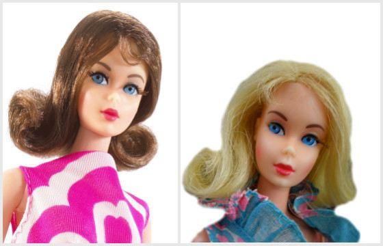 Барби  блондинка и брюнетка. 1969 год