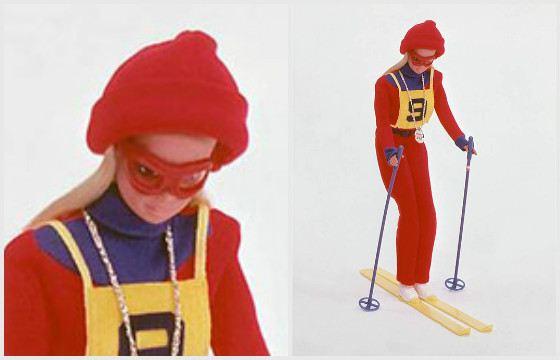 Барби «Олимпийская лыжница». 1975