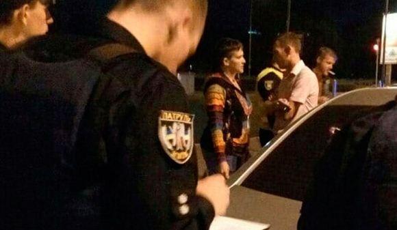 Кадр с места ДТП с участием Надежды Савченко