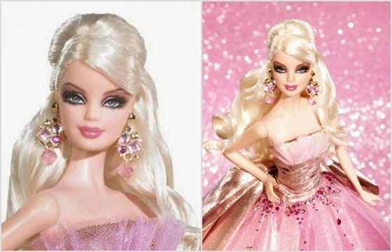 Барби с праздничным макияжем. 2009