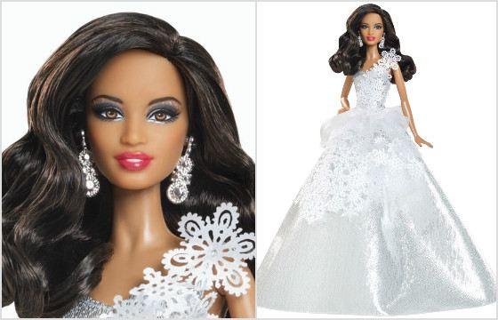 Барби в снежном платье от дизайнера Judy Choi. 2013
