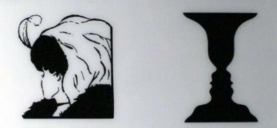 Самые известные оптические иллюзии: девушка-старуха и профили-ваза