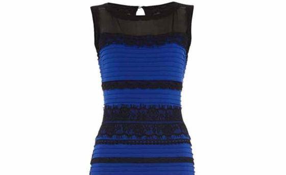 Платье оказалось сине-черным