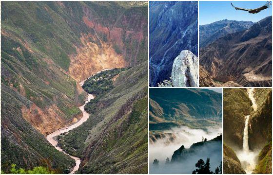 Перуанский каньон Колка ценят любители рафтинга