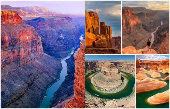 По Большому каньону течет река Колорадо