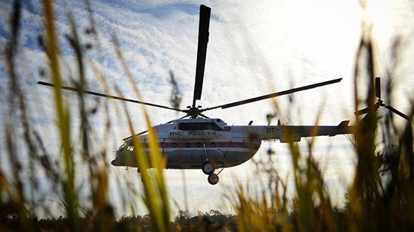 В Подмосковье рухнул вертолет МЧС