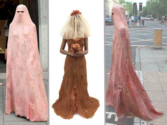 В коллекции есть никаб и свадебное платье