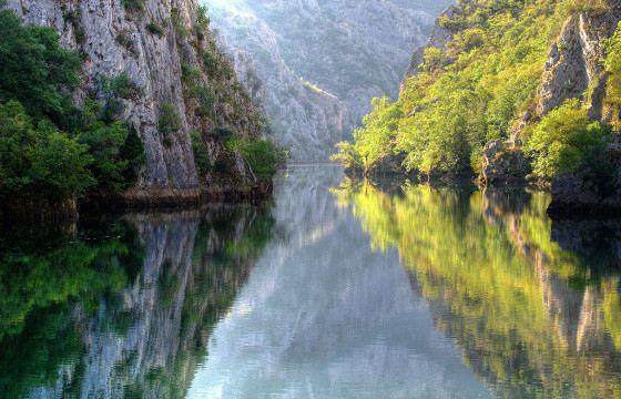 Каньон Матка находится близ города Скопье