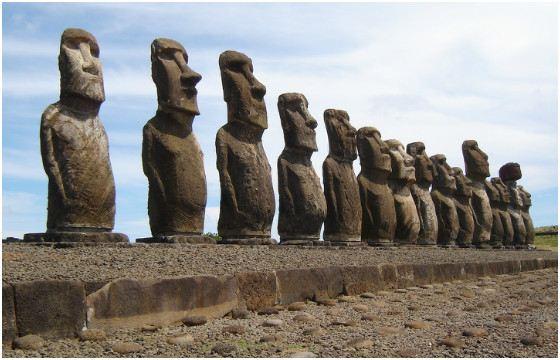 Размер Моаи от 3 до 5 м