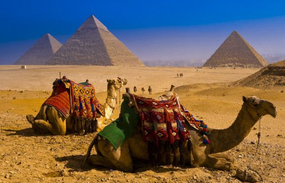 Egyptian pyramids - one of the seven wonders of the world
