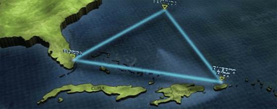 Бермудские треугольник считают одной из аномальных зон