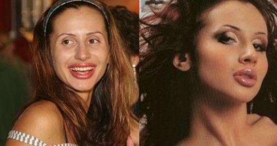Слева получи фото: Вета Лобода лишенный чего макияжа