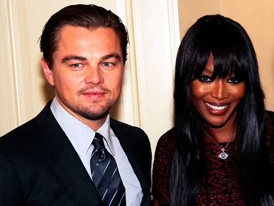 Leonardo DiCaprio and Naomi Campbell