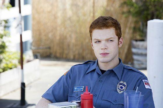 "Cameron Monahan on the set of the season 7 of ""Shameless"""
