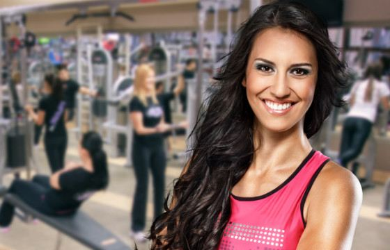 In the gym, excess makeup will interfere