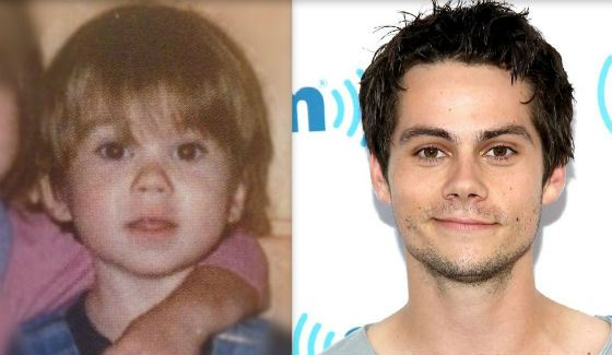 Dylan O'Brien in his childhood and nowadays