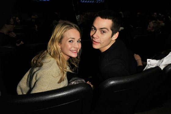 Dylan O'Brien and his girlfriend Brittany Robertson