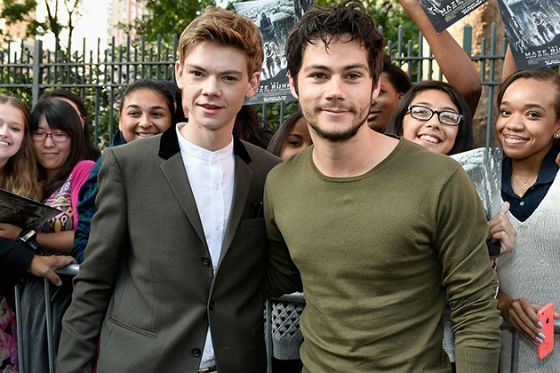 Shot from «The Maze Runner»: Dylan O'Brien and Thomas Sangster