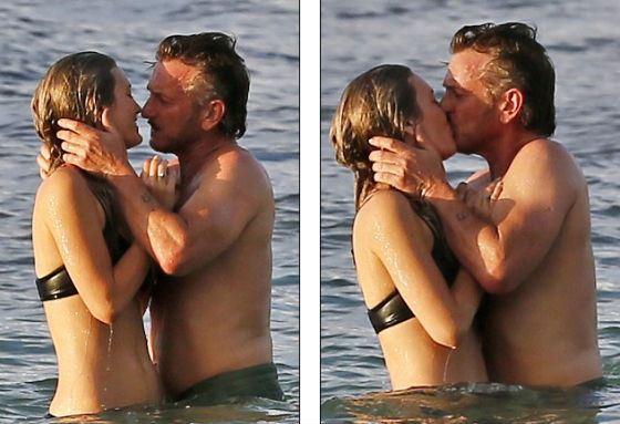 Папарацци засняли поцелуй Шона Пенна и его новой девушки