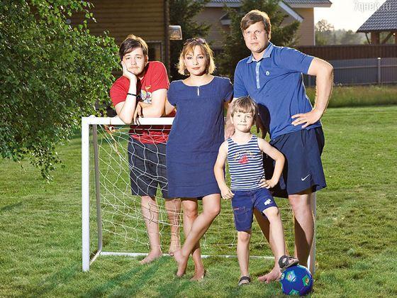 Татьяна Буланова с семьей