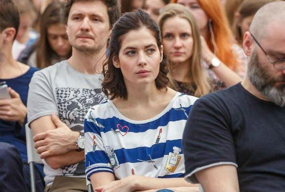 Юлия Снигирь на съемках «Про любовь-2»