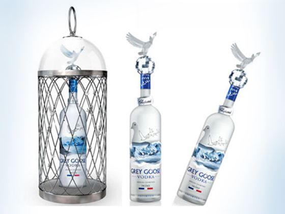 Водку Grey Goose Vodka Magnum вам предложат с серебряной клеткой