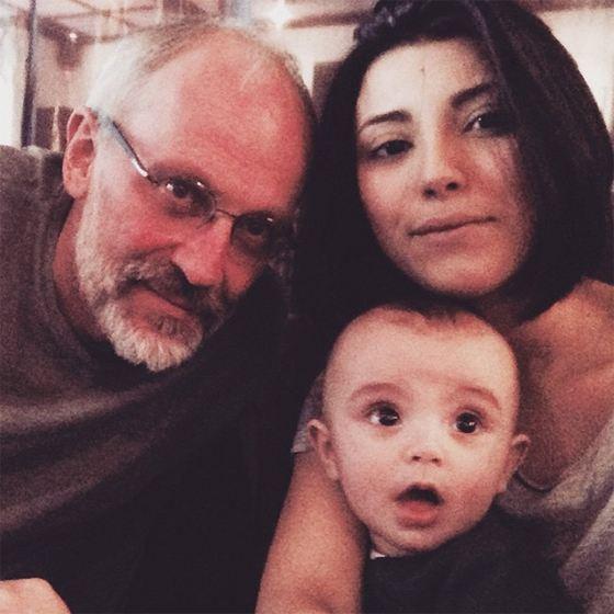 Александр Гордон с женой и сыном