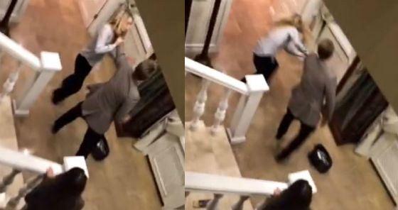 Девушку сбросили с лестницы и избили