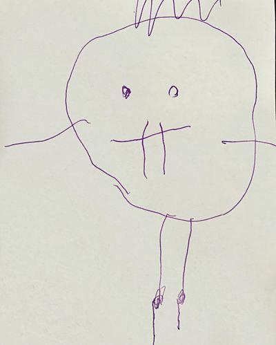 Гарик Харламов поделился своим портретом работы дочери
