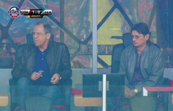 Лавров находит время для посещения стадиона