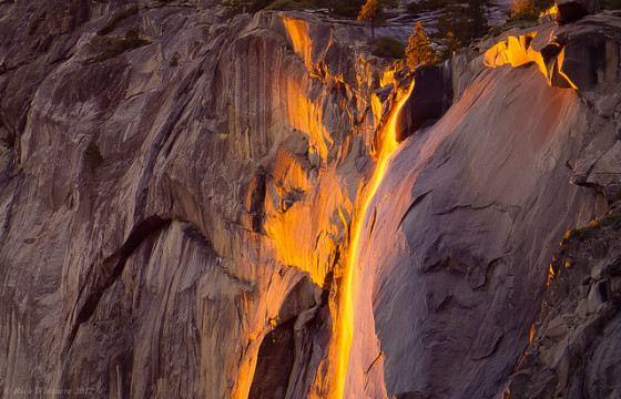 Водопад Хорстейл роскошен в лучах заката