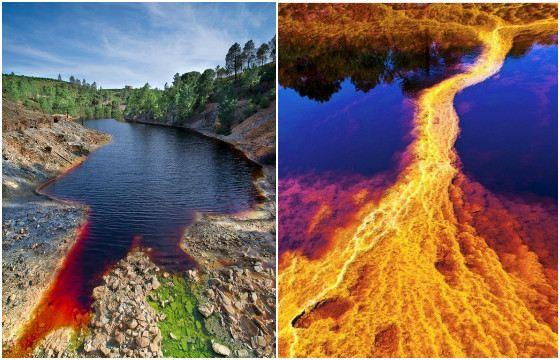 Несмотря на яркие краски, оранжевый поток в обычной реке ужасает
