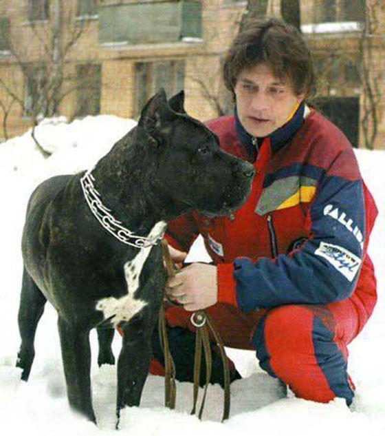 Александр Домогаров со своей собакой