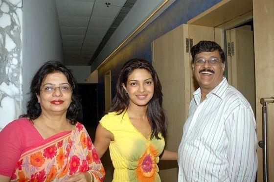Priyanka Chopra with her parents