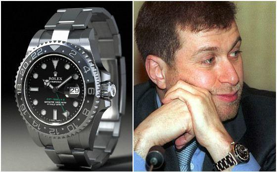 Лучшими часами Роман Абрамович считает Rolex