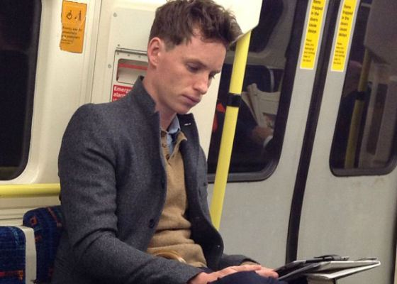 Eddie Redmayne takes a ride on the subway very often