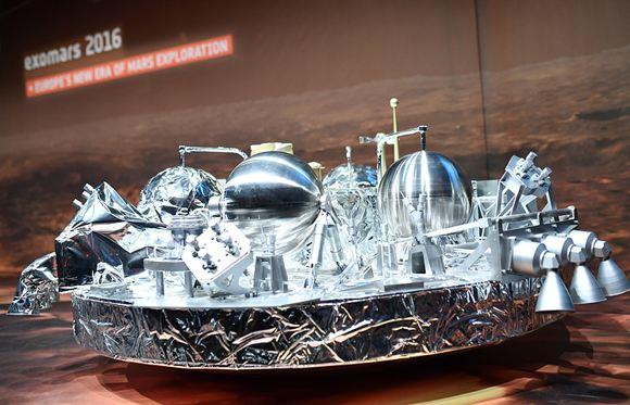 Специалисты потеряли связь с марсианским зондом Schiaparelli