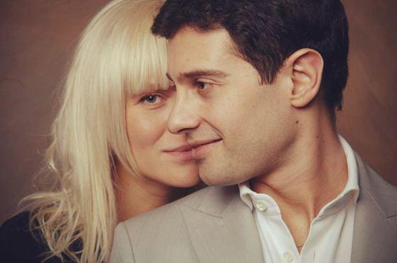 Антон Макарский с женой Викторией
