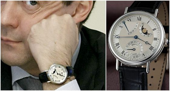 Коллекция часов Дмитрия Медведева достаточно большая