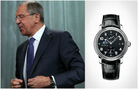 Министр иностранных дел выбрал ту же марку часов, что и президент