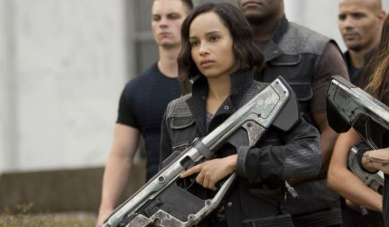 Divergent: Zoe Kravitz in the role of Christine from the Dauntless cast