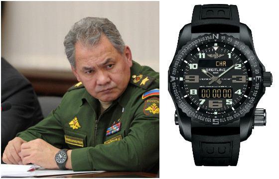Сергей Шойгу носит часы с функцией радиомаяка